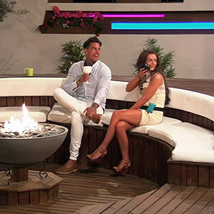 Terry Walsh and Kady McDermott, contestants on ITV reality series 'Love Island'. Broadcast on ITV2 HD