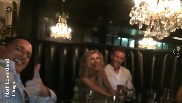 Love Island stars reunite at Sheesh Chigwell in Essex: Olivia Buckland and Alex Bowen 20 July 2016