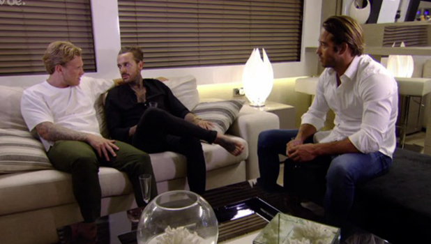 TOWIE Series 18, Episode 2 Pete Wicks talks to Lockie and Tommy Mallet Aired 20 July 2016