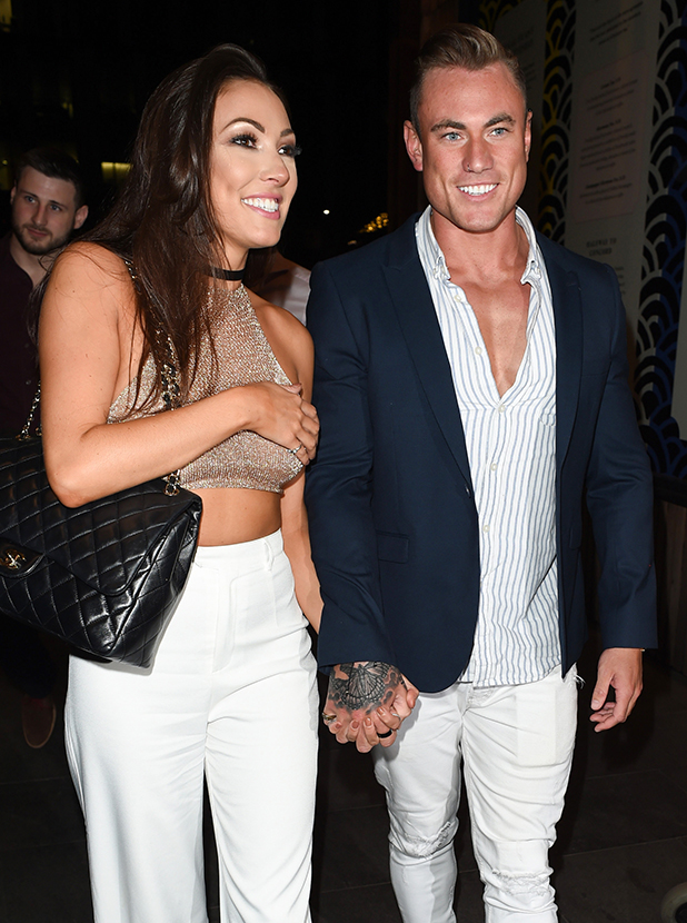 Love Island couple Tom Powell and Sophie Gradon at Neighbourhood in Manchester 21 July 2016