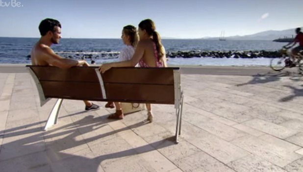 TOWIE Series 18, Episode 2 Mike Hassini talks to Chloe and Lydia 20 July 2016