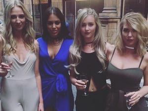 Love Island's Olivia, Tina, Malin and Lauren enjoy a girls' night!