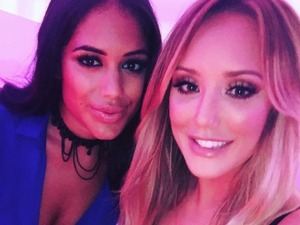 Love Island's Malin Andersson proves there's no hard feelings with Charlotte Crosby