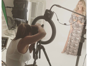 Former TOWIE star Sam Faiers turns photographer for sister Billie's new In The Style clothing campaign