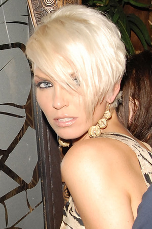 Sarah Harding leaving The Mahiki Club on July 10, 2007 in London England.