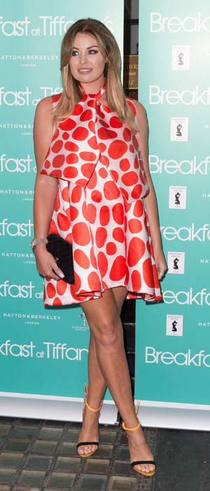 Former TOWIE star Jessica Wright attends the Breakfast At Tifffany's after party in London, 25th July 2016