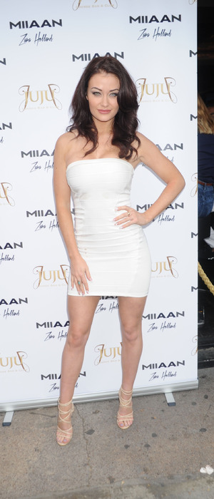 Ex On The Beach star Jess Impiazzi attends Zara Holland's clothing launch with Miiaan, London 16th July 2016