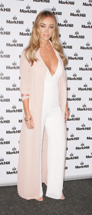 Former The Only Way Is Essex star Lauren Pope DJs at the Mark Hill Hair Pick 'N' Mix launch in London, 27th July 2016
