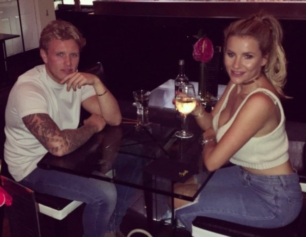 TOWIE's Tommy and Georgia enjoy a date night at Sheesh - 26 July 2016