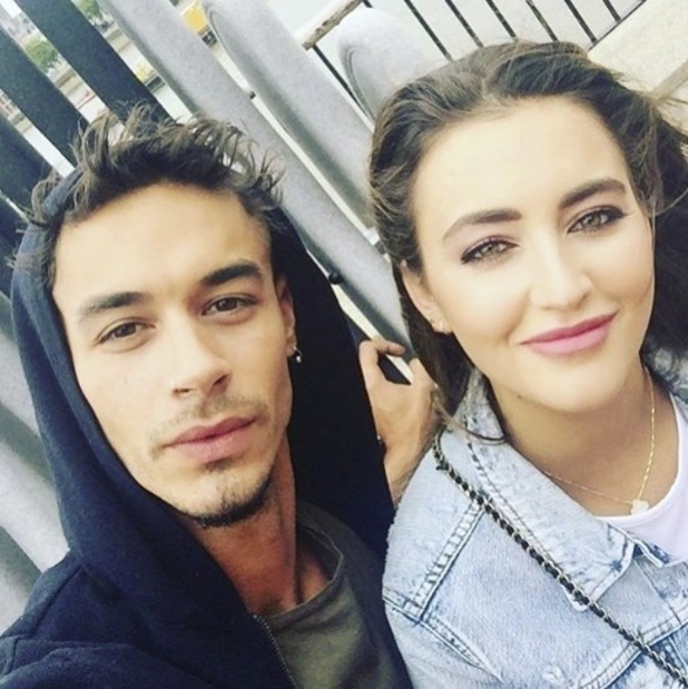 Jackson Blyton and Georgina Leigh Cantwell - selfie uploaded to Jackson's Instagram on 28//16