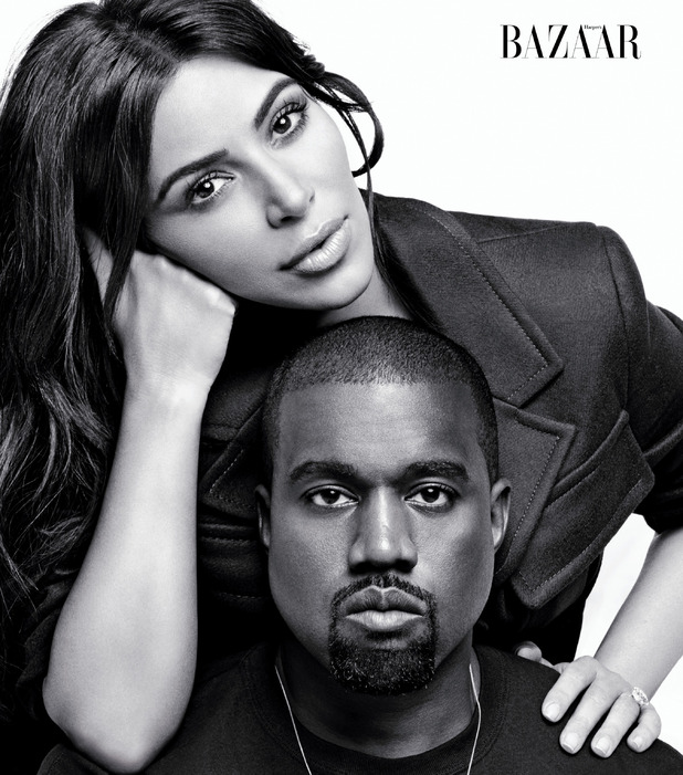 Keeping Up With The Kardashians star Kim Kardashian and husband Kanye West on Harper's Bazaar shoot, 28th July 2016