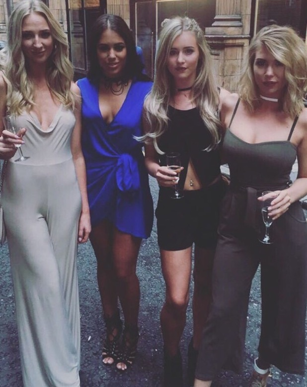 Love Island girls attend Mark Hill Hair party - 27 July 2016