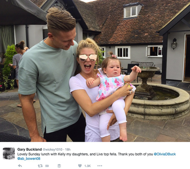 Olivia Buckland and Alex Bowen hang out with Olivia's family in Essex 23 July 2016