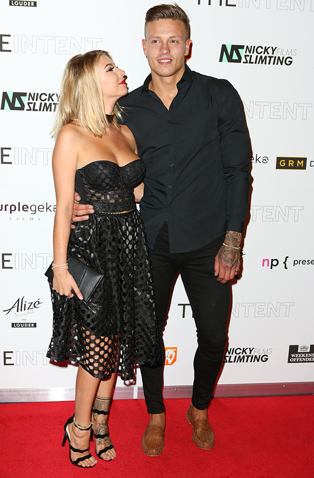 Love Island's Alex Bowen and Olivia Buckland attend The Intent premiere London, 25 July 2016