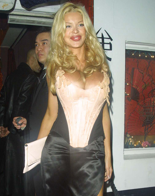Alicia Douvall outside China Whites night club 2002