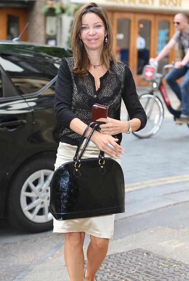 Alicia Douvall outside ITV Studios, 28 July 2016