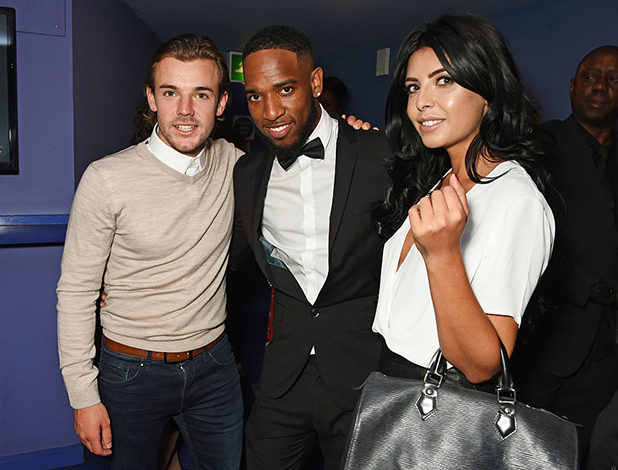 Nathan Massey, Nathan Hector and Cara De La Hoyde attend the UK Premiere of 'The Intent' at Cineworld Haymarket on July 25, 2016 in London, England.