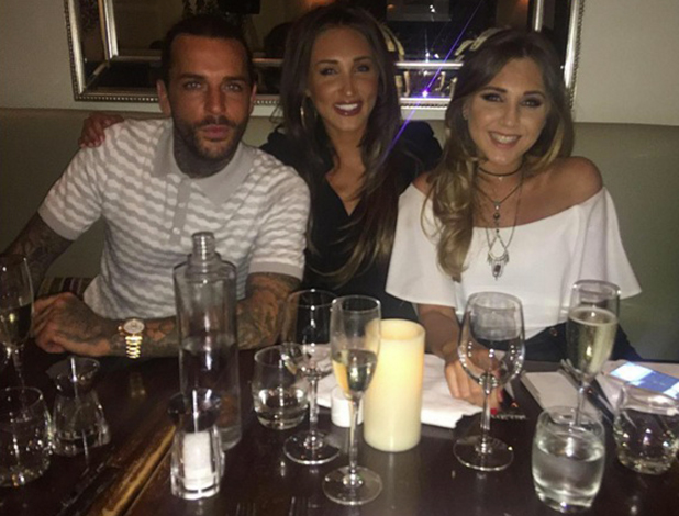 Megan McKenna's sister Milly with Megan and Pete 2016