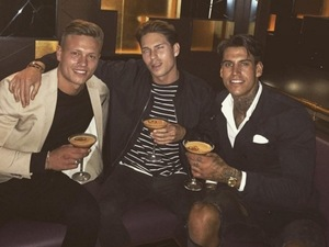 Terry Walsh, Alex Bowen and Joey Essex 3 August