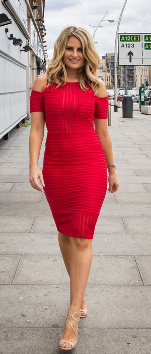 The Only Way Is Essex's Danielle Armstrong filming the new series in Essex, 3rd August 2016