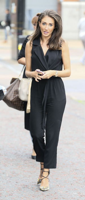 TOWIE star Megan McKenna outside the ITV studios in London, 4th August 2016