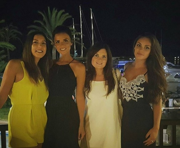 Emma-Jane Woodhams and Lucy Mecklenburgh in Majorca, 3 August 2016