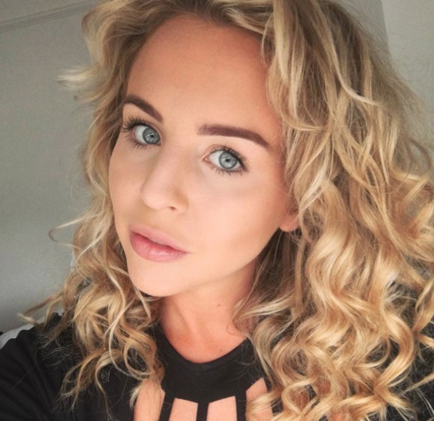 TOWIE's Lydia Bright shares selfie to Instagram, 1st August 2016