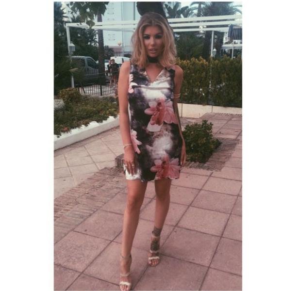 Olivis Buckland wears Quiz clothing in Marbella, Spain,