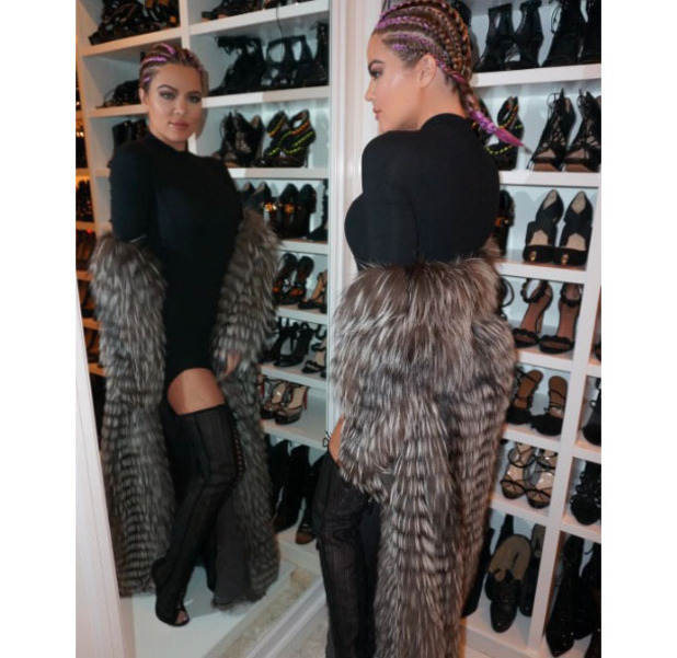 Khloe Kardashian shows off her purple braids on Instagram, 2nd Auust 2016