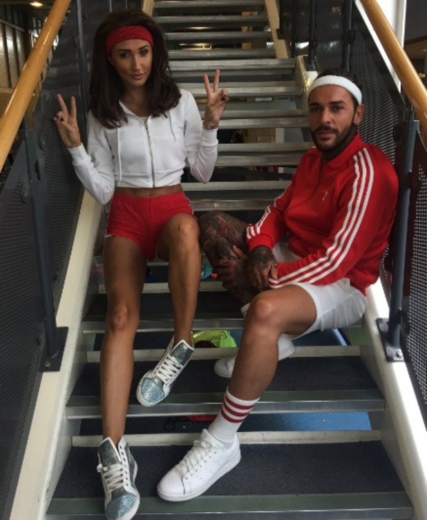 TOWIE's Megan McKenna and Pete Wicks filming, 2 August 2016