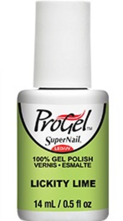 SuperNail ProGel 100% Gel Polish in Lickity Lime