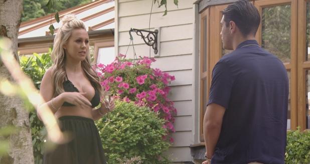 Kate Wright and Jon Clark talking on TOWIE, 14/8/16