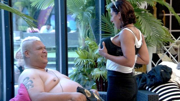 CBB: Heavy D and Saira Khan re-enact Bear and Chloe's steamy massage 10 August