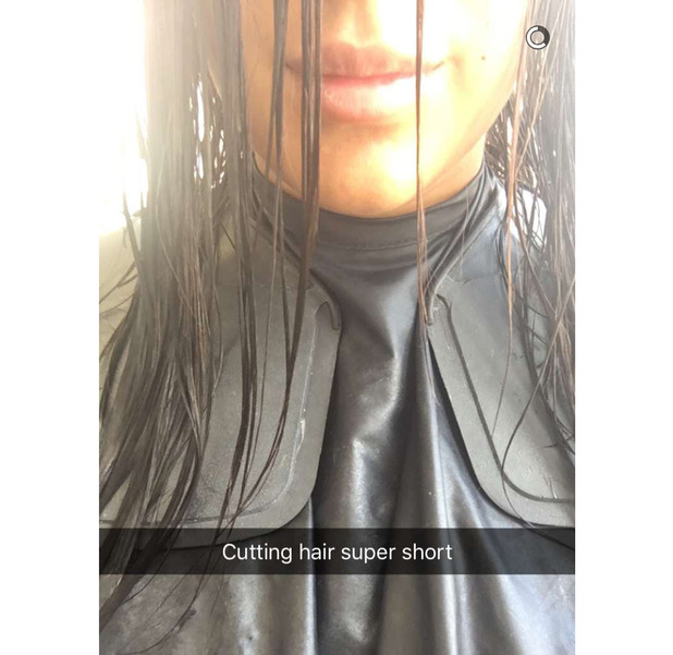 Love Island's Malin Andersson in the salon chair, Snapchat, 9th August 2016