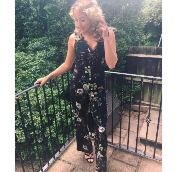 TOWIE star Lydia Bright wearing Miss Selfridge and New Look in Instagram picture, 9th August 2016
