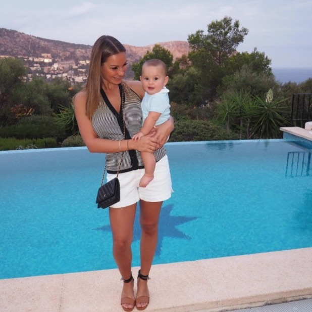 Sam Faiers with her son Paul on holiday