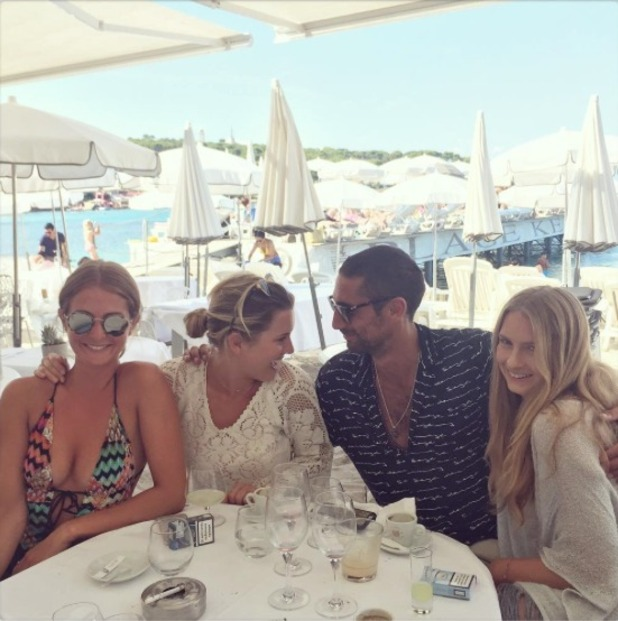 Millie Mackintosh grabs lunch with Hugo and Caggie in France