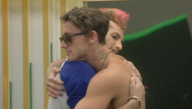 CBB: Frankie and Bear hug after night of drama 10 August 2016