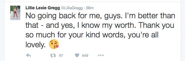 Lillie Lexi Gregg responds to CBB's Stephen Bear dumping her - 8 Aug 2016