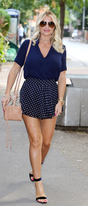 TOWIE's Billie Faiers outside the ITV Studios in London, 18th August 2016