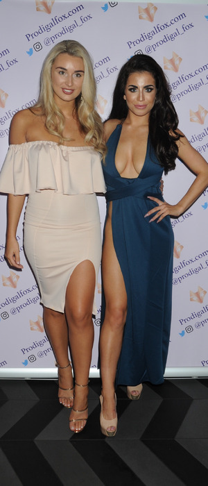 Love Island stars Rachel Fenton and Katie Salmon at Prodigal Fox clothing launch party, 18th August 2016