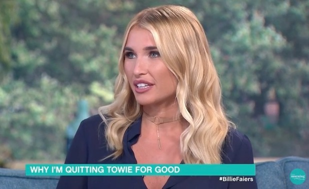 Billie Faiers appears on This Morning - 18 August 2016