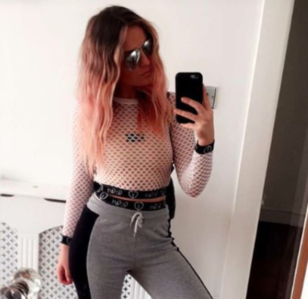 Little Mix star Perrie Edwards shows off her pink hair on Instagram, 16th August 2016