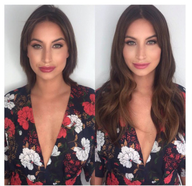 Former TOWIE star Ferne McCann shows off her super-short hair before extensions make-over, 16th August 2016