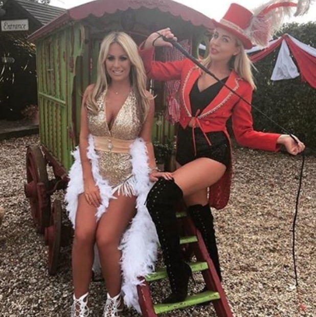 Kate Wright, Lydia Bright pictured at TOWIE circus finale - 15 Aug 2016