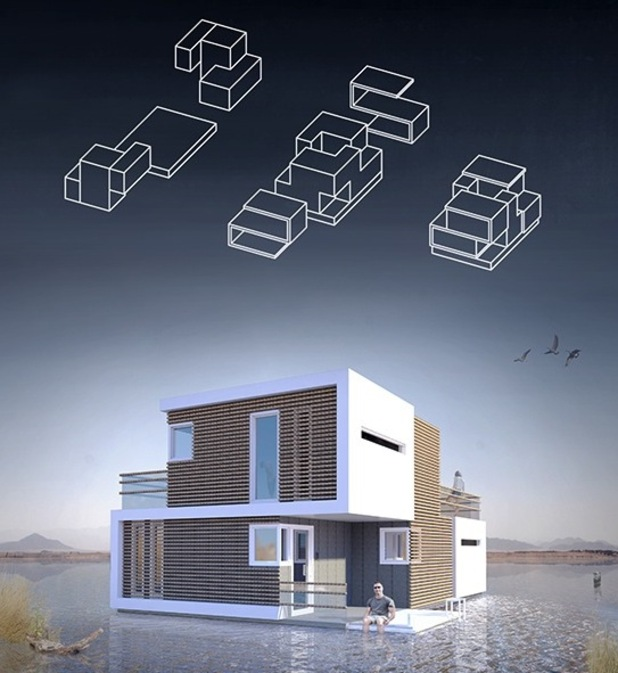 Studio OBA have created a house that splits in two if you get divorced