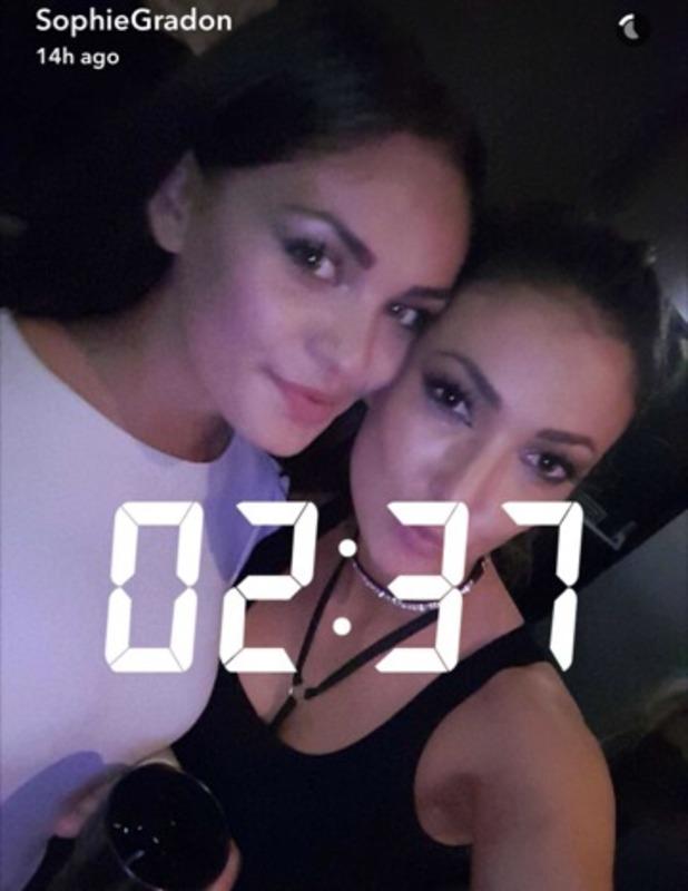 Love Island's Sophie Gradon and Emma-Jane Woodhams, Snapchat 13 August