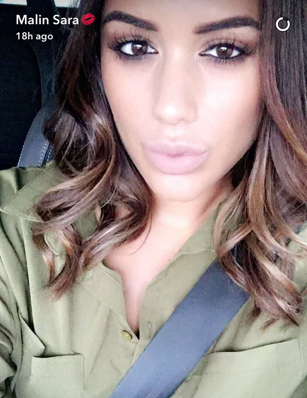 Love Island's Malin Andersson debuts caramel-coloured highlights on Snapchat, 19th August 2016