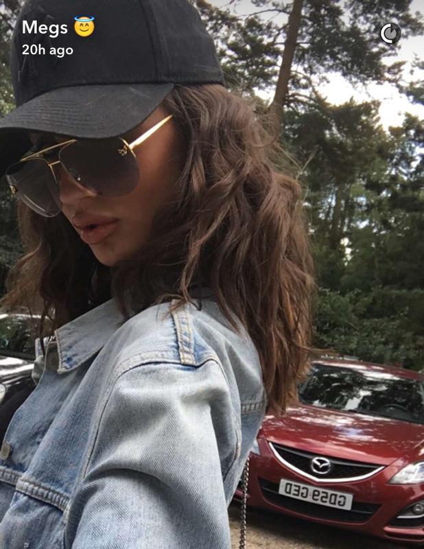 Megan McKenna rocks curly-wavy hair in latest Snapchat, 17th August 2016