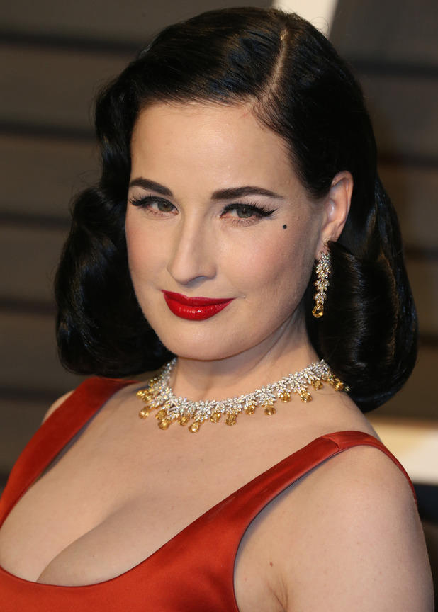 Dita Von Teese at Vanity Fair Oscar Party at Wallis Annenberg Center for Performing Arts - Arrivals Los Angeles, United States 28th February 2016